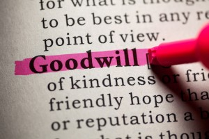 Goodwill will bring value to your buisiness